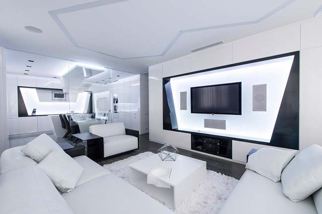 Futuristic apartment in Moscow | Pinterest