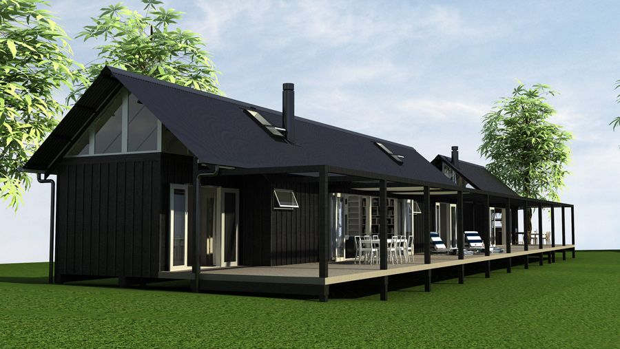 Eunoia living baches architecturally design bach for Small house design new zealand