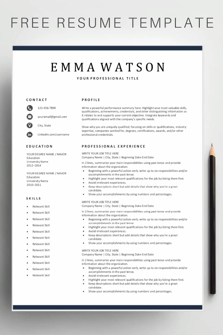 Photo of Free Simple Resume Templates