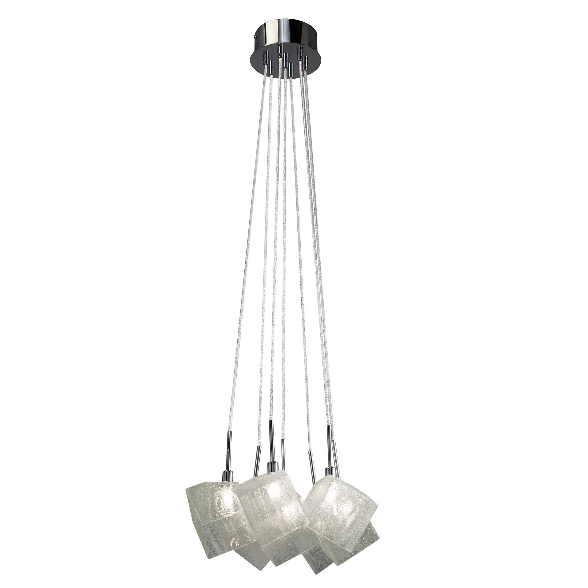 Elan Icekubez 83268 Chandelier - Chrome Finish with Clear Crackle ...