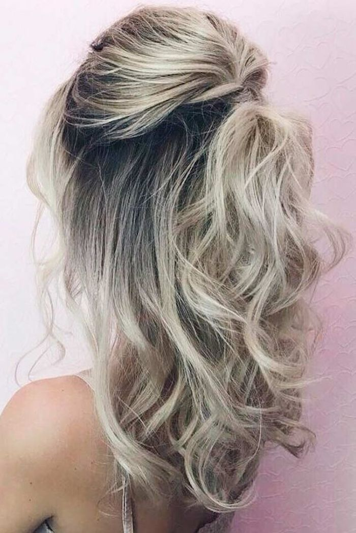 37 Beautiful Half Up Half Down Hairstyles For The Modern Bride Hair Lengths Medium Hair Styles Homecoming Hairstyles