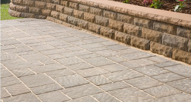 "anchor block products four cobblea""¢ stone patio stones"