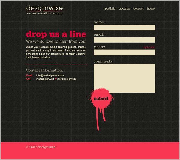 Strange Contact Form Design Inspiration Layout Design Love Pinterest Hairstyles For Women Draintrainus