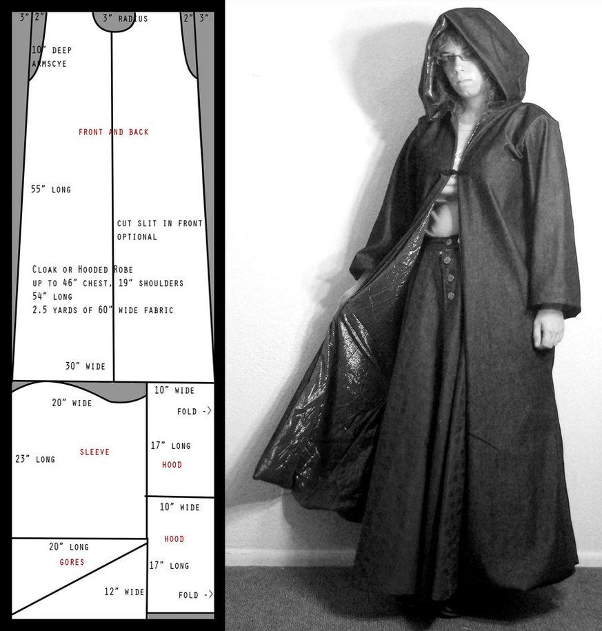 Simplicity 9887 SEWING PATTERN Medieval Wizard Cape/Cloak/Robe ...