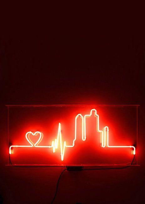 Heartbeat City Neon Light Sign Random Stuffs Neon Lighting Neon