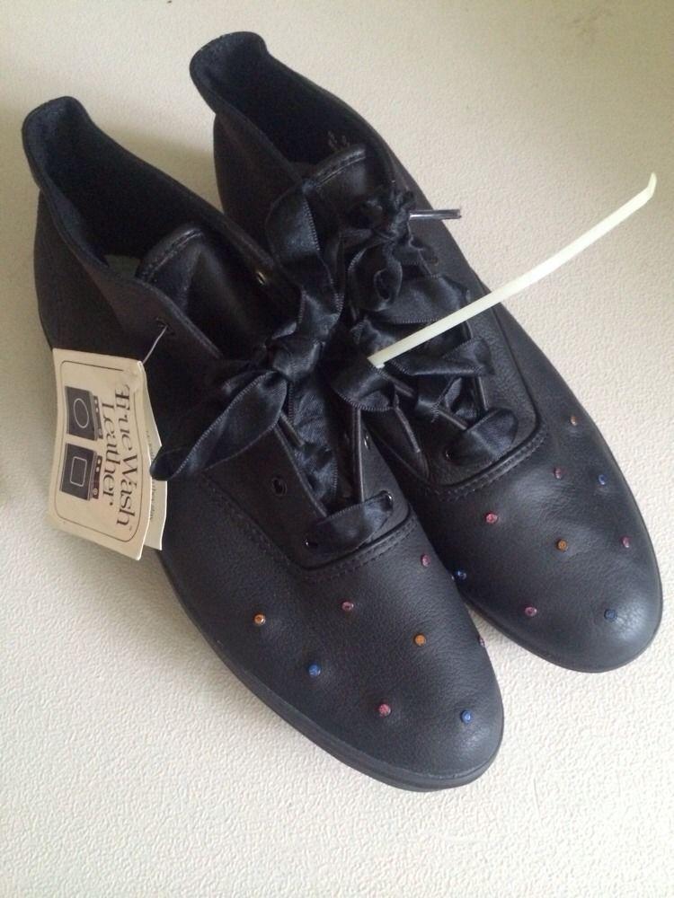 Vintage KEDS True Wash Leather Black