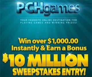 pchgames com - PCH Games Instant Win Games and $10 Million