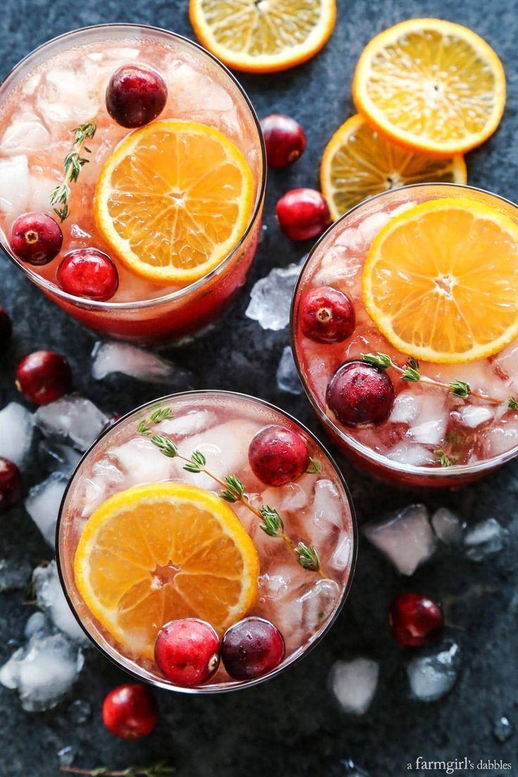 Cranberry Thymian Gin und Tonic -