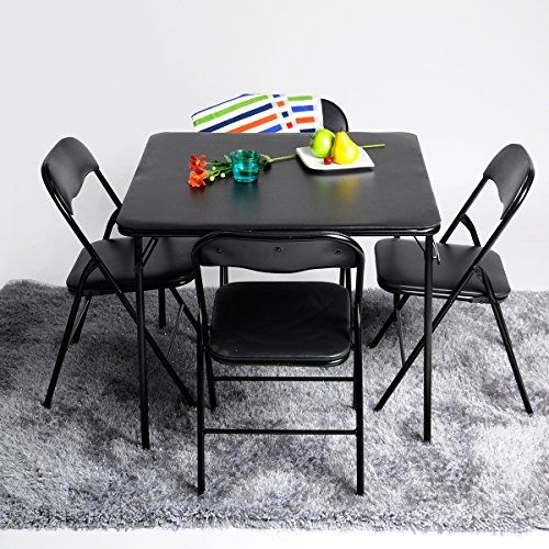 5pc Folding Table Chairs Parties Portable Furniture Dining Set Card Poker Game Portable Furniture Chair Camping Picnic Table