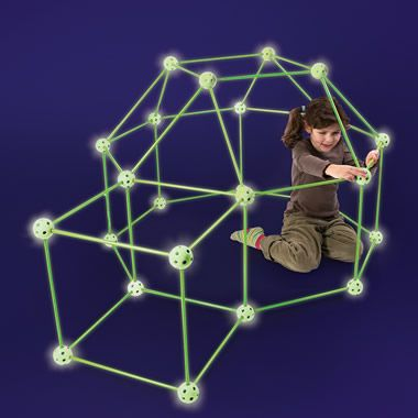 The Glow In The Dark Fort Frame Kit - Hammacher Schlemmer. Thatu0027s such an awesome idea for blanket forts no more trying to find a flashlight the fort glows ...  sc 1 st  Pinterest & The Glow In The Dark Fort Frame Kit - Hammacher Schlemmer. In a ...