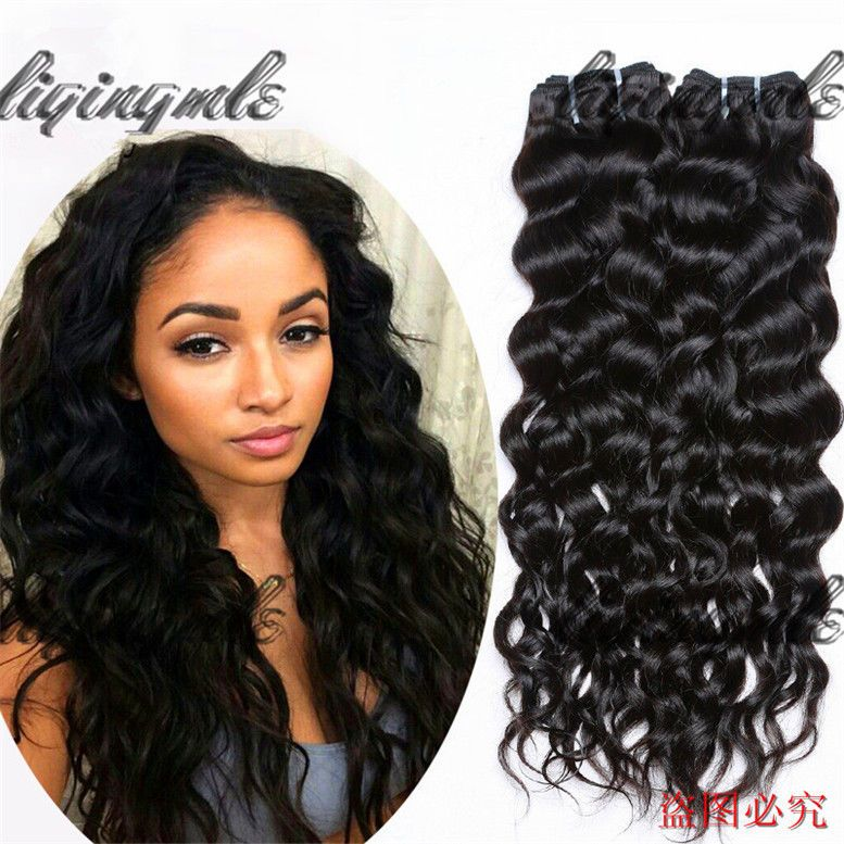 Natural Wave Virgin Human Hair Extension Real Hair Indian Weave 1