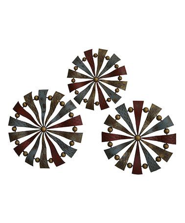 Loving this Pinwheels Metal Wall Sculpture - Set of Three on #zulily! #zulilyfinds