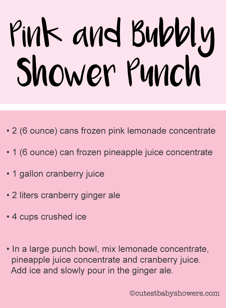 recipes for baby shower punch