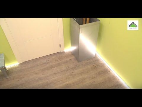 Como Colocar Un Rodapie Luminoso Con Tiras De Led Leroy Merlin
