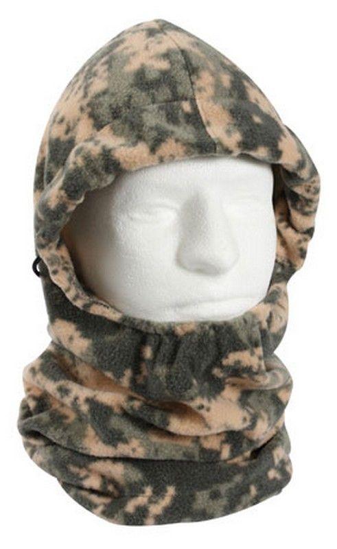 ce673c12f3974 Adjustable digital camouflage balaclava polar fleece  7.60 Extreme cold  weather gear. Military Outerwear. http