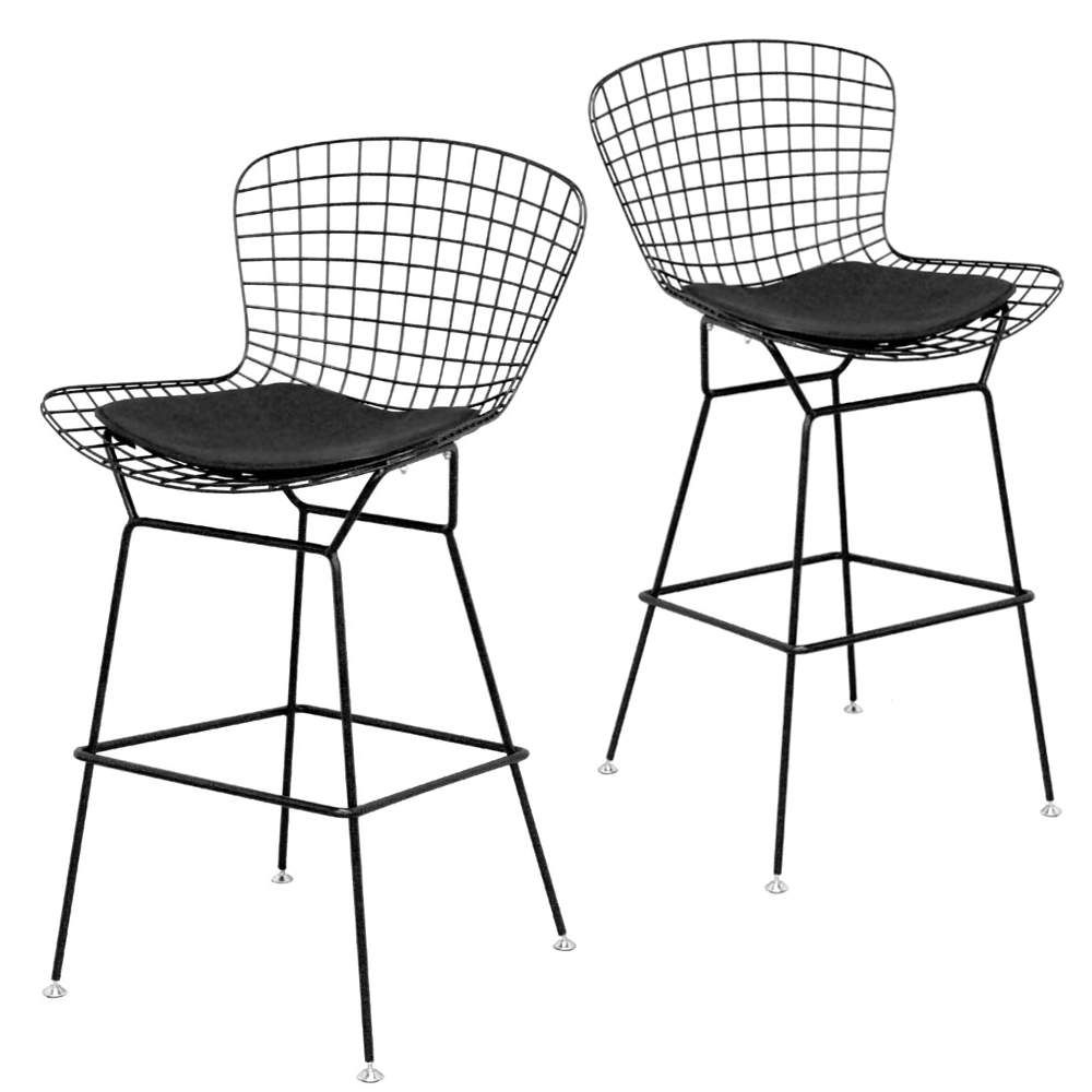 Bertoia Inspired Wire Barstool, Set of 2 made by Retro