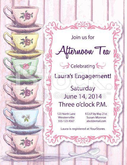 Tea Party Invitation Template royaltyfree stock vector art – Tea Party Invitation Template