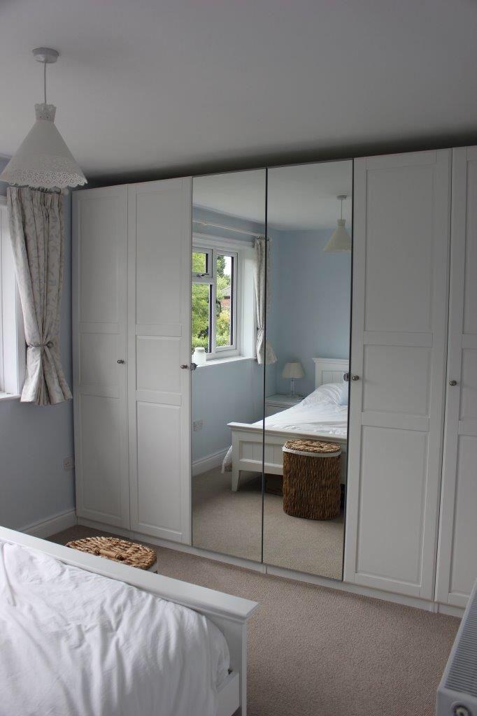 Ikea Pax 236cm High Wardrobes Dreams Pippa White Bed