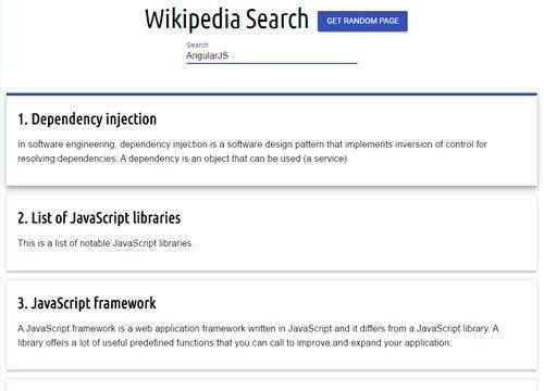 WikiSearchApp - AngularJS test project