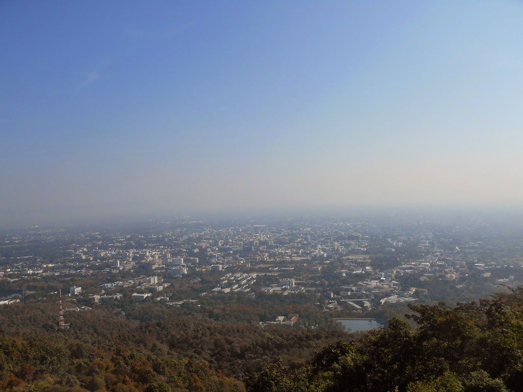 Chiang Mai view from Doi Suthep (watch my travelblog: http://ramingodentro.blogspot.it/2015/03/chiang-mai-seconda-volta-e-il-parco-doi.html)