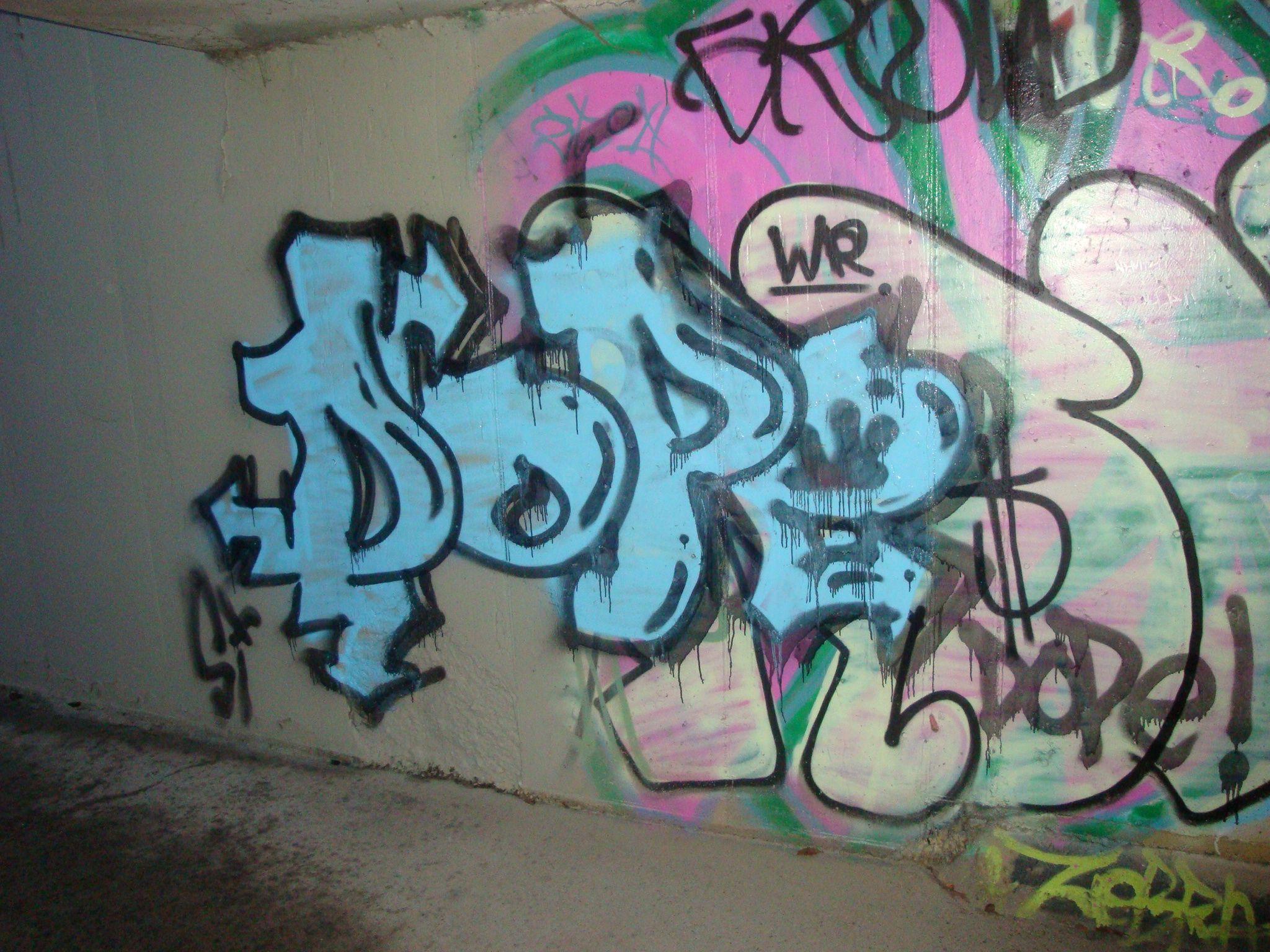 Wall graffiti dope
