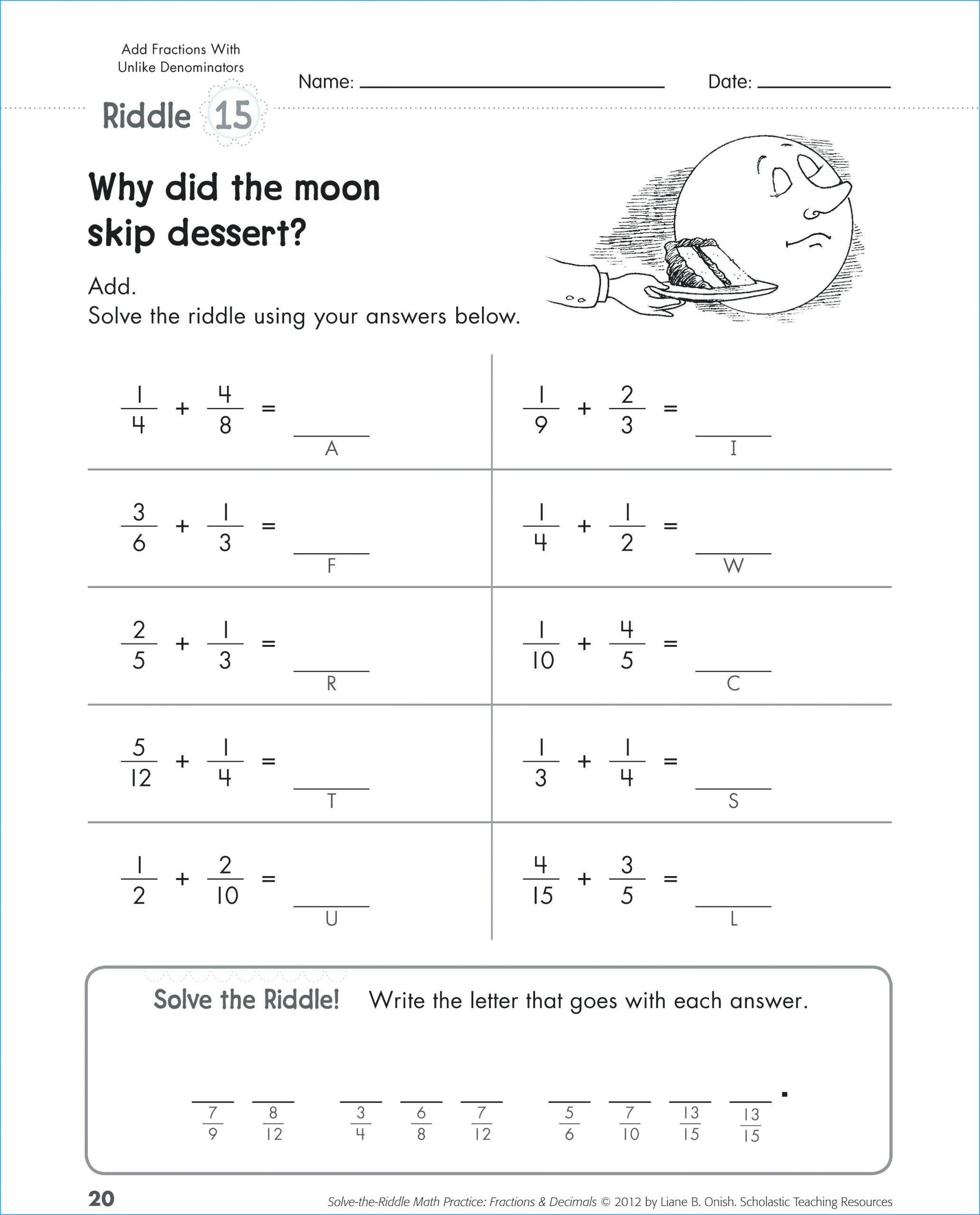 5 Solving One Step Equations Worksheet Puzzle Solving E