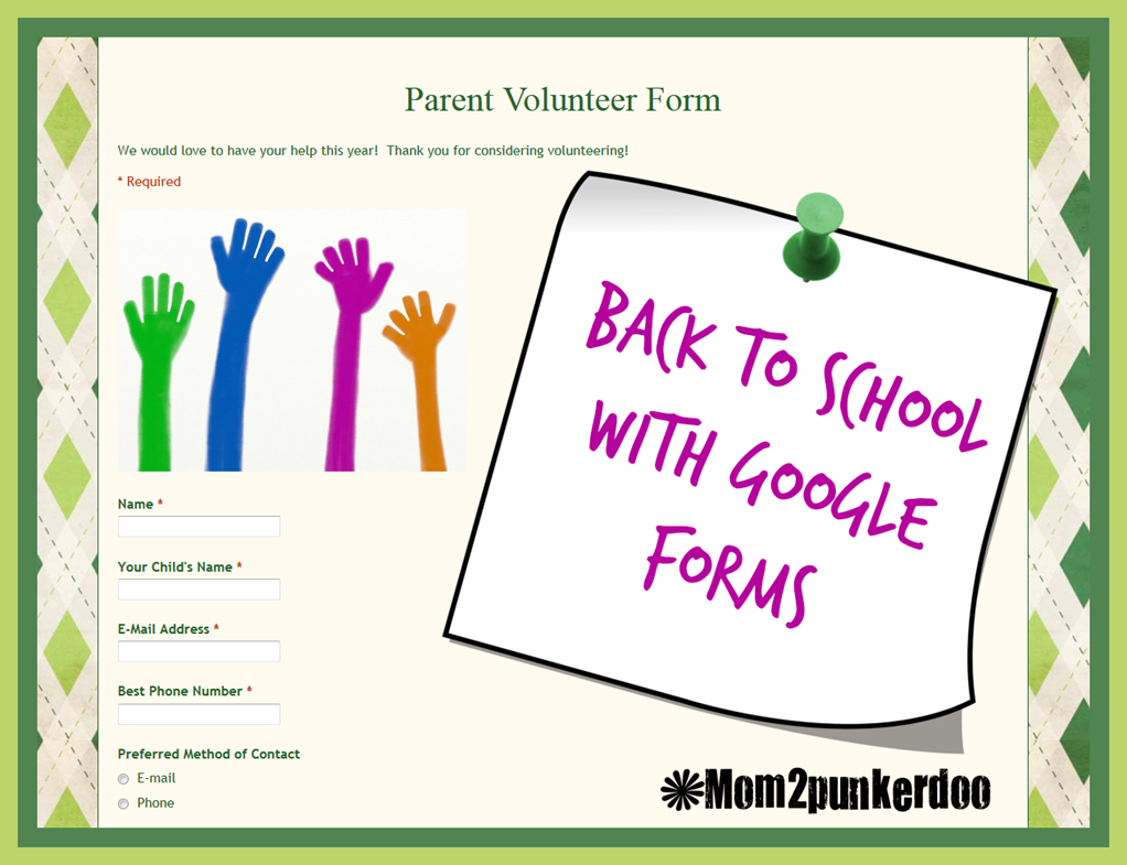 MomPunkerdoo Back To School With Google Forms Easy Way To
