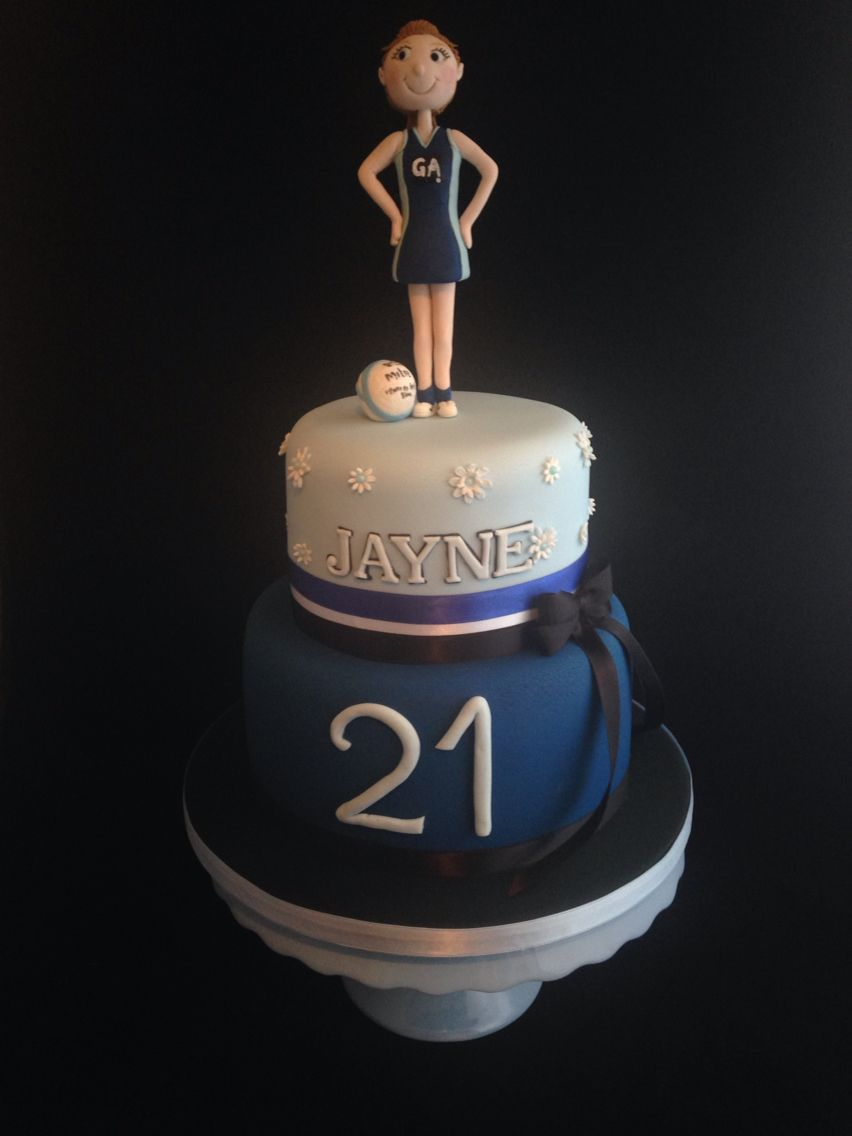 Netball Player 21st Birthday Cake 21st Birthday Cakes Volleyball Birthday Cakes Themed Birthday Cakes
