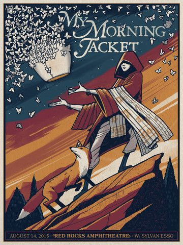 My Morning Jacket - Red Rocks Show Poster 8/14/15