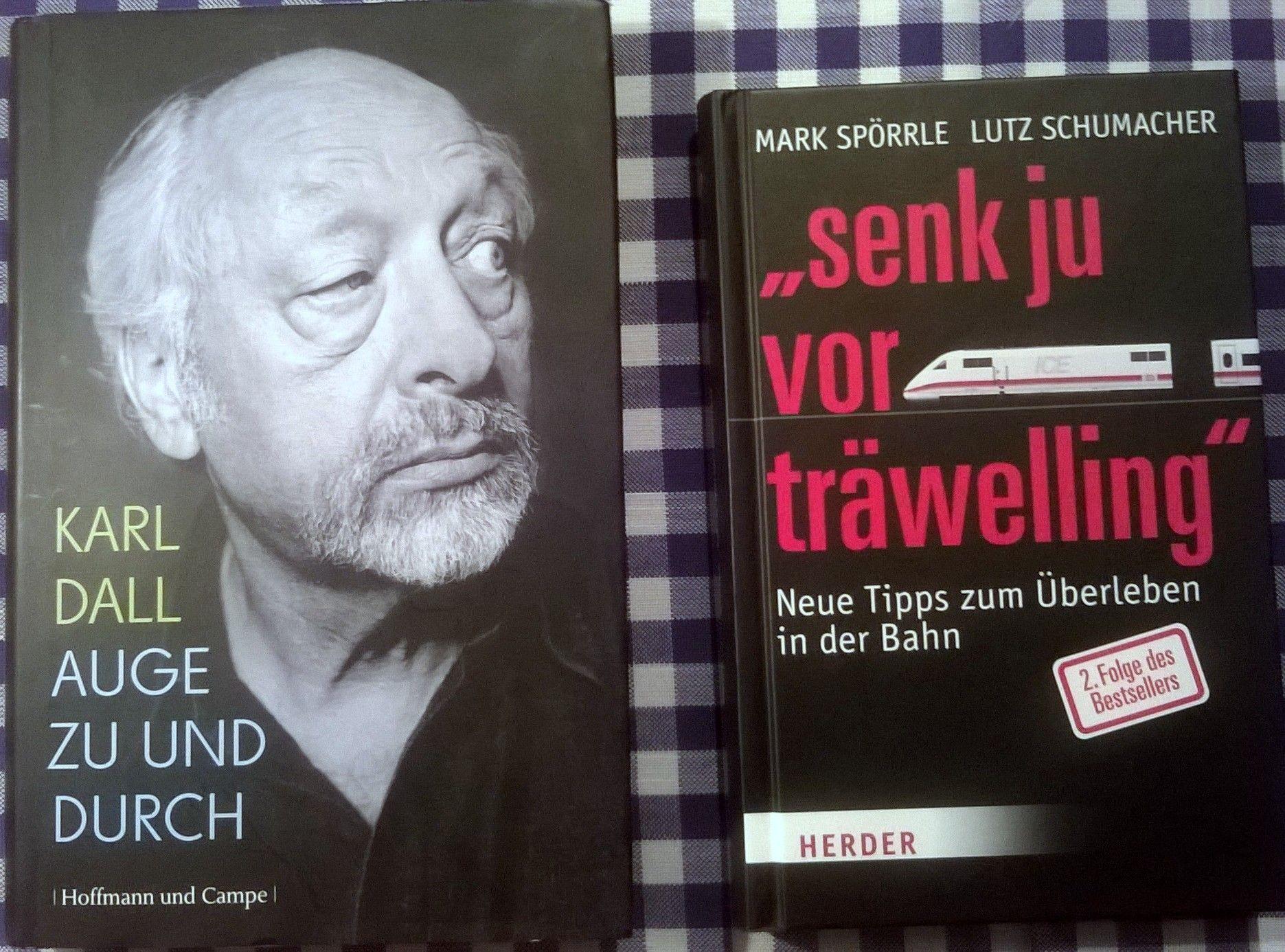 Zum Kugeln: Karl Dalls Autobiographie. Und ein Buch über Erlebnisse bei Fahrten mit der DB