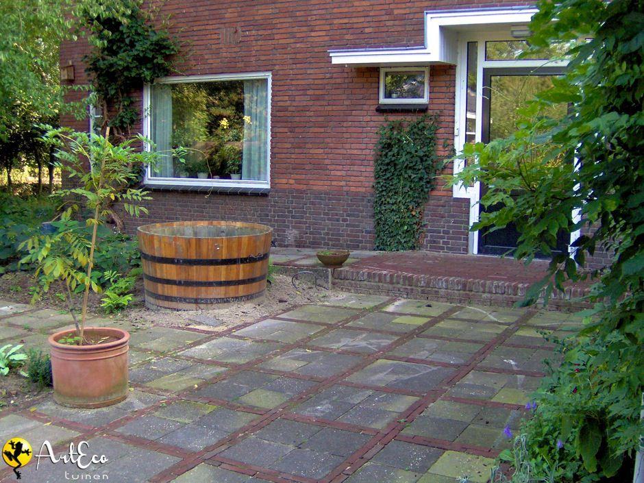 Ae bestrating nieuwe klinkers en oudetegels 1a tuin for Bestrating kleine tuin