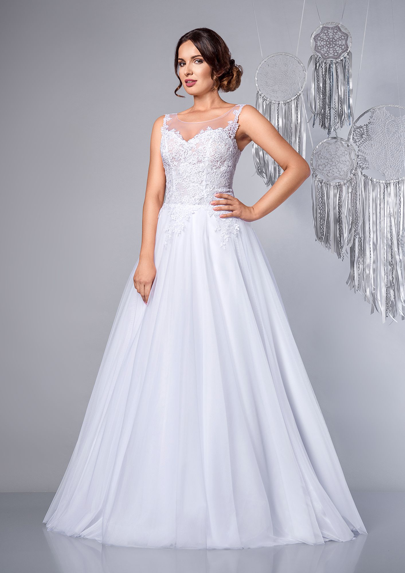 Nice Suknia ślubna Litera A Tiule A Line Tulle Romantic Wedding