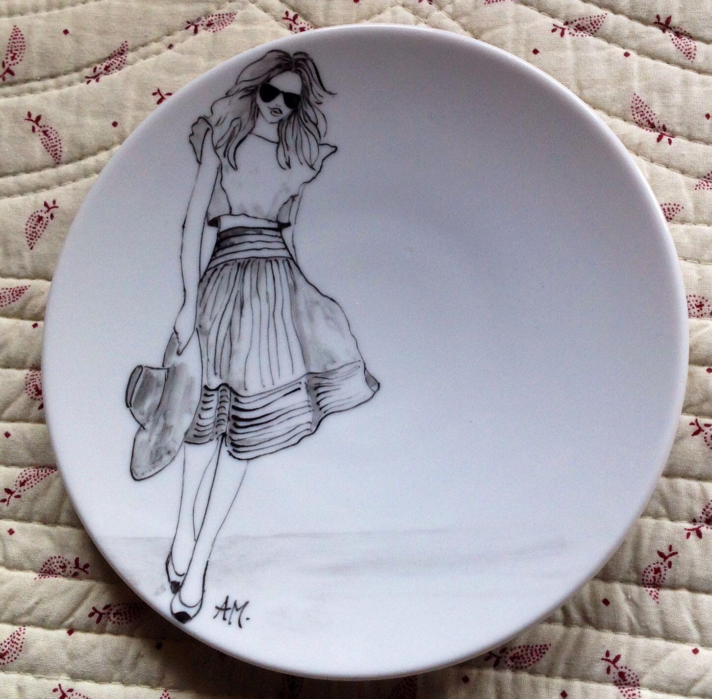 piattini frutta porcellana a delineo peinture porcelaine. Black Bedroom Furniture Sets. Home Design Ideas