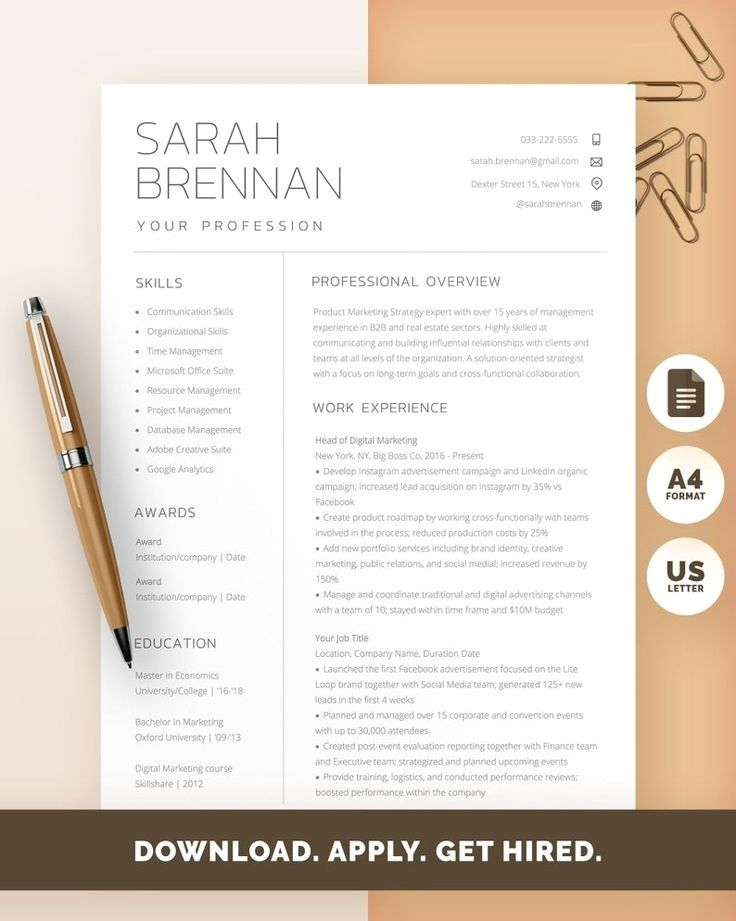 Basic Resume Templates Minimalist Resume Templates in