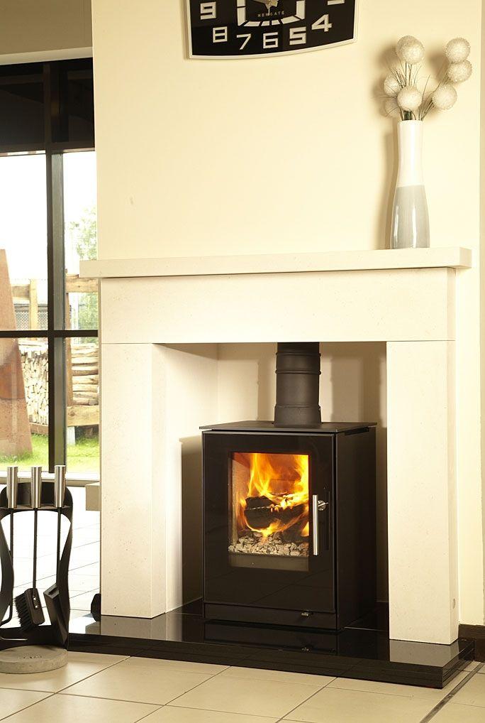 Rais Stoves | Q-Tee 57 5kw Wood Burning Stove - Rais Stoves Q-Tee 57 5kw Wood Burning Stove Living Room