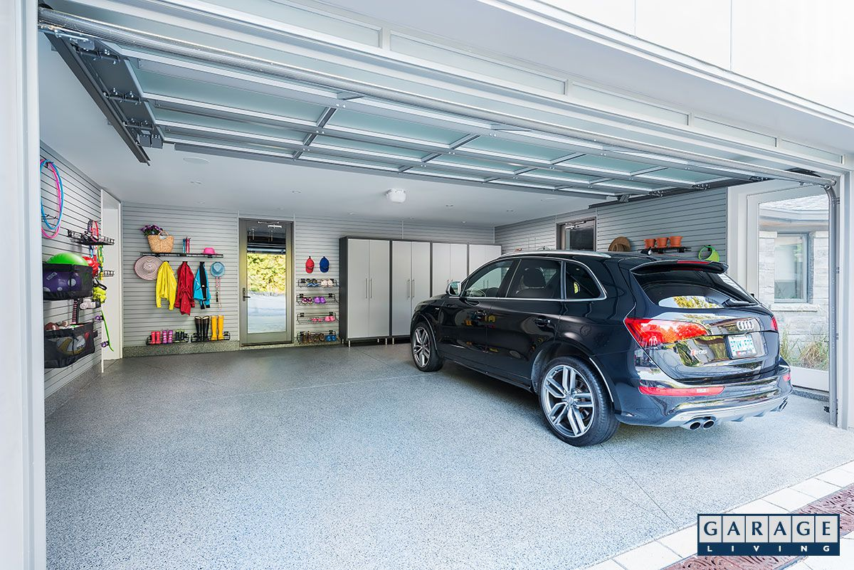 Sarah S Garage Also Has A Flootex Floor Coating In Blue