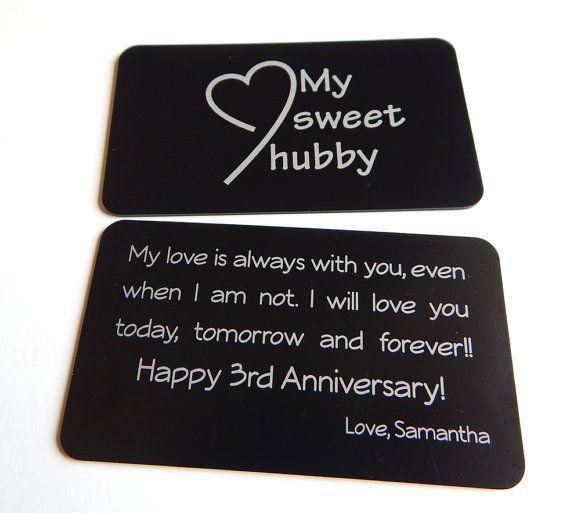3rd Wedding Anniversary Gift To My Husband From Wife HusbandCustom Love Note For HimWedding Memory Hubby