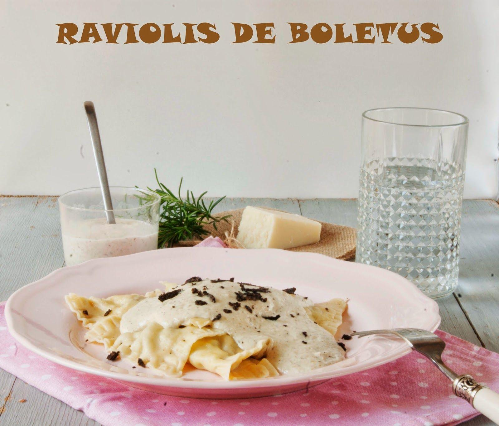 Raviolis Caseros En Salsa De Boletus Pasta Casera Setas Recetas Recetas Tapas
