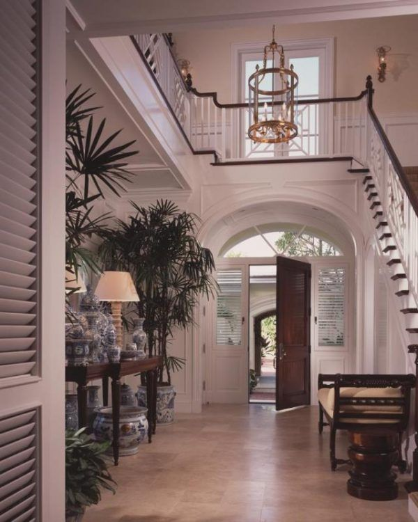 British west indies style rocks the coastal look british for Colonial foyer ideas