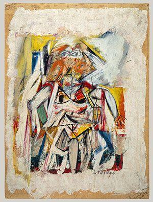 Willem de Kooning (1904-1997) Vanaf ongeveer 1928 begon hij stillevens en figuren te schilderen die elementen van de Parijse School en Mexicaanse invloeden combineerden. Aan het begin van de jaren 30 begon hij te experimenteren met abstracte vormen - een grote tegenstelling met zijn latere werk. Dit vroege werk bevat sterke invloeden van Graham en Arshile Gorky en weerspiegelt de invloed die Pablo Picasso en de surrealist Joan Miró op deze jonge artiesten hadden.