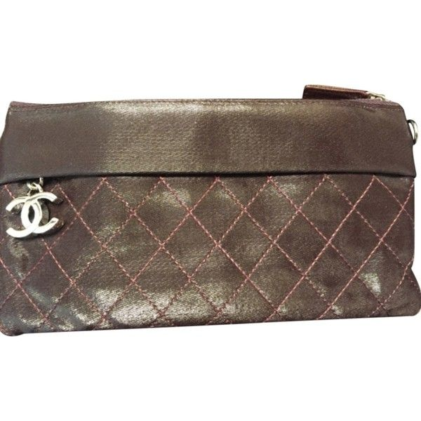 Pre Owned Chanel Clutch 458 Liked On Polyvore Featuring Bags Handbags