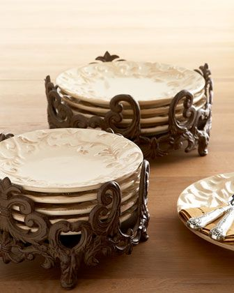 G G Collection Ceramic Serving Bowls \u0026 Tray & Rectangular Serving Tray with Handles | Plate holder Dinnerware and ...