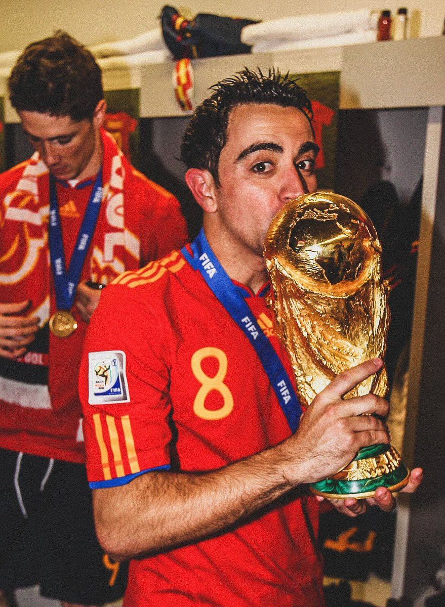 Xavi World Cup 2010 In 2020 Soccer Event Barcelona Team Football Pictures