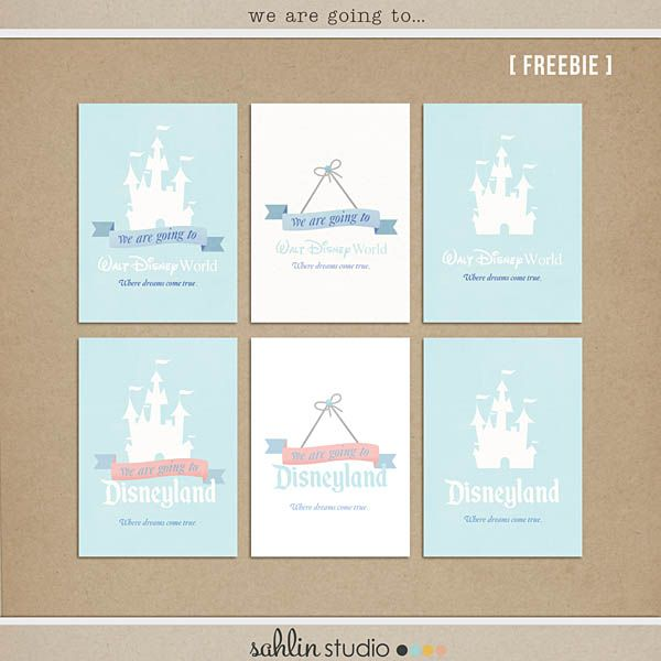 Project Mouse FREEBIE!  Disney Digital Project Life cards for FREE from Sahlin Studio