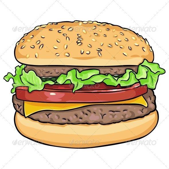vector cartoon hamburger fonts logos icons pinterest