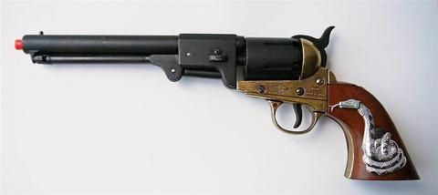 Clint Eastwood Movie Prop Western Cowboy Gun - Replica With Snake