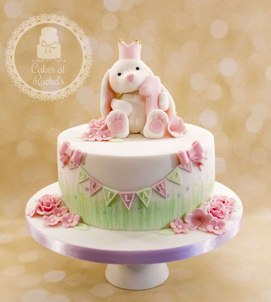 Lilah's Little White Bunny Cake Bunny birthday cake, 1st