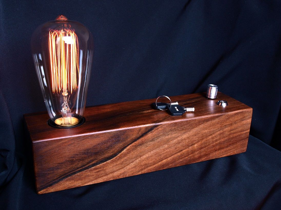 edison lamp vintage lamp christmas gift industrial lamp wood lamp steampunk lamp handmade lamp. Black Bedroom Furniture Sets. Home Design Ideas