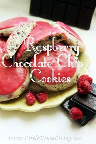Raspberry Chocolate Chip Cookies | Little House Living