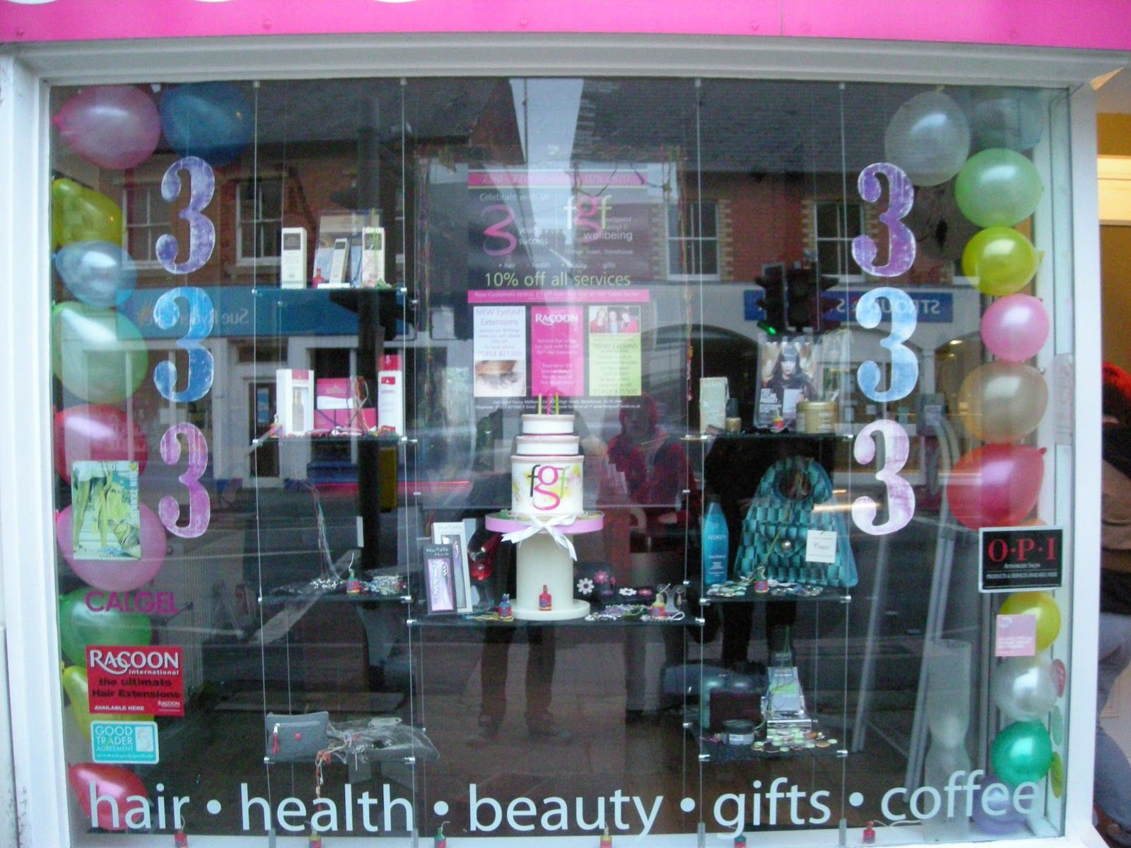 Window Displays For Salon